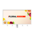 floral design for billboard card with spring vector image vector image