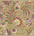 floral seamless pattern flourish oriental ethnic vector image