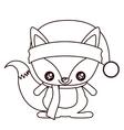 Fox cartoon of Merry Christmas design
