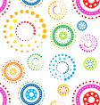 funky circles pattern vector image vector image