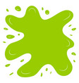 green splash on a white background vector image vector image