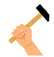 hand with hammer icon vector image vector image