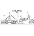 italy trento architecture line skyline vector image vector image