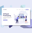 landing page template of 3d rapid prototyping vector image vector image