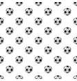 leather soccer ball pattern vector image