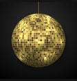 mirror disco ball isolated vector image vector image