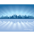Novosibirsk Russia skyline city silhouette vector image vector image