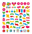 online shopping icons notebook pc cart buy vector image vector image