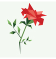 Origami rose vector image