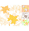 Pattern from autumn sheet vector image