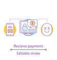 payment notification concept icon vector image vector image