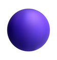 purple ball on white isolated background vector image vector image