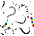 question marks seamless pattern or interrogation vector image vector image