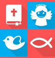 religious icons set vector image vector image