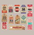sale labels discounts price cards clearance vector image