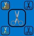 Scissor icons set vector image