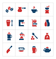 Set color icons of coffee vector image