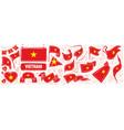 set national flag vietnam vector image
