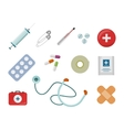 Set of Medical Supplies in Flat Design vector image vector image