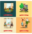 set of modern gadgets for daily life vector image vector image
