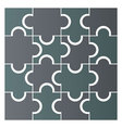 simple puzzle pieces vector image