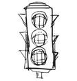 sketch traffic lights vector image vector image