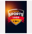 sports and tournament logo concept design vector image vector image