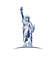 Statue of Liberty image Concept of freedom vector image