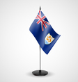 Table flag of Anguilla vector image vector image