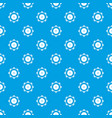 tambourine pattern seamless blue vector image vector image