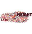 teen weight loss facts text background word cloud vector image vector image