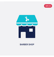 two color barber shop icon from beauty concept vector image
