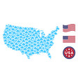 united states map collage of component vector image