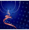 US themed Christmas vector image vector image