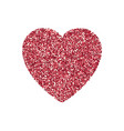 valentines day heart isolated background vector image vector image