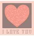 Vintage card for Valentines Day with hearts vector image vector image