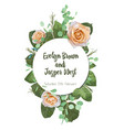 vintage watercolor round frame with blooming vector image