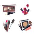 woman cosmetic makeup beauty accessories bronzer vector image vector image