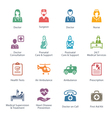 Colored Medical Services Icons - Set 1 vector image