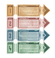 Vintage promotional web banners and tickets vector image