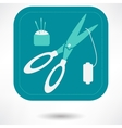 set of sewing tools icons black and white vector image
