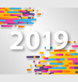 2019 happy new year design card on hipster vector image vector image