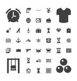 37 vintage icons vector image vector image