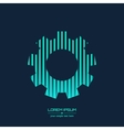 Abstract Creative concept icon of gear vector image