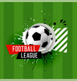 abstract football league banner background vector image