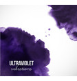 abstract ultraviolet purple grunge splash on white vector image vector image