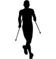 athlete runner running mountain marathon vector image vector image