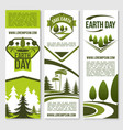 banners for earth day ecology concept vector image vector image