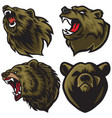 bear logo set premium collection vector image vector image