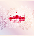 beautiful eid al adha decorative mosque background vector image